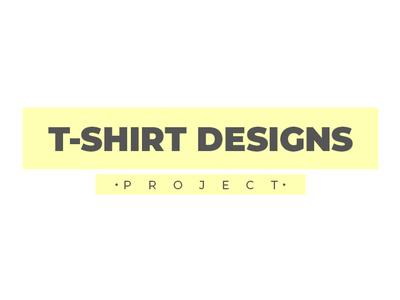 T-shirt designs project