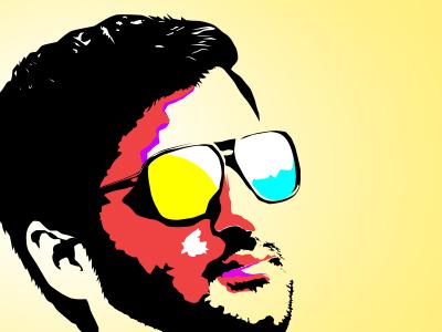 A Self Portrait vector portrait avatar portrait