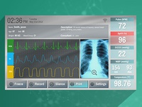 Patient Vital Signs Monitor UI Concept