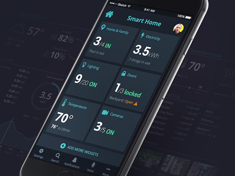 Smart home app by vlad listopadov on dribbble - Design my home app ...