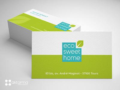 Eco Sweet Home Logo & Business cards print cards logo business card