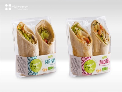 Croquez Bio wrap print sandwich sandwiches box packaging