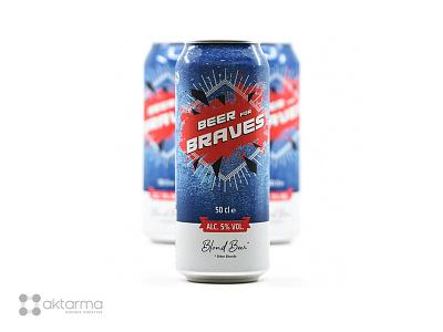 Logo et packaging - Bière Beer for Braves logo design print
