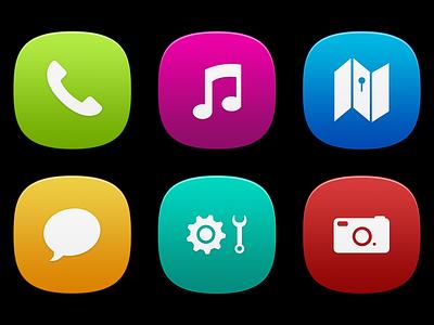 MeeGo Icons - Free PSD icons nokia psd meego free colours