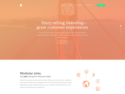 Landing page preview (work in progress) typography colors teaser homepage design startup preview landingpage