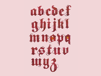 Meat Gothic font illustration design pink gothic meat typeface font handmade