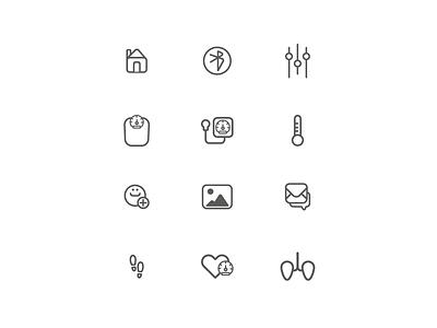ui pictograms for @bepatient app design pictogram ui health