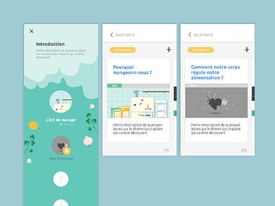 Health - Learning module graphic design ui ux app design webdesign