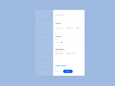 Filter Menu product design menu filter ux ui design ux
