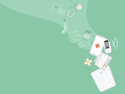 Medical devices app design vector medical health e-health handmade product design ui design illustration