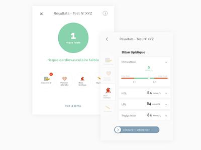 Cardiovascular result icon branding app design medical health e-health ux ui product design illustration design