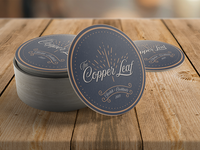 "Coasters for ""The Copper Leaf"""