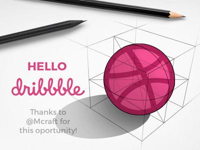 First Shot dribbble ball sphere first draft 3d design branding logo sketch pencil