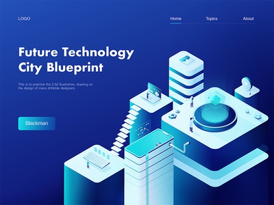 Future Technology  City Blueprint