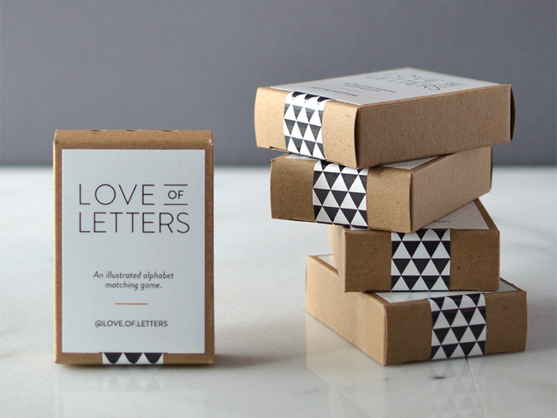 Love of Letters // packaging packaging typography letters alphabet