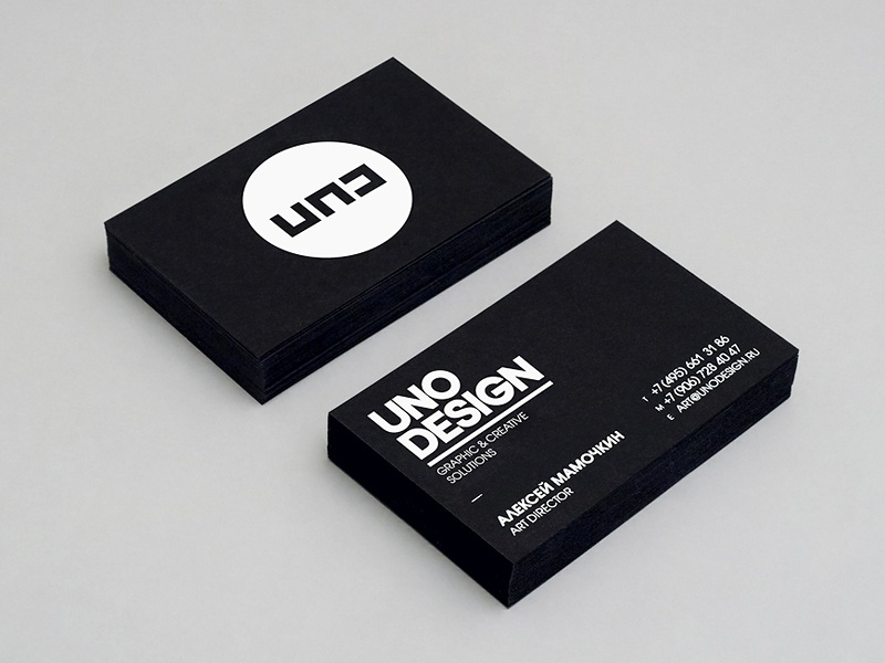 Uno Design Business Cards by Alexey Malina Studio - Dribbble