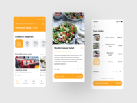 Your Meal | Food Delivery Mobile App product page product design food delivery app cart ecommerce interface design ux ui eat product meal food and drink menu restaurant order app ios delivery food