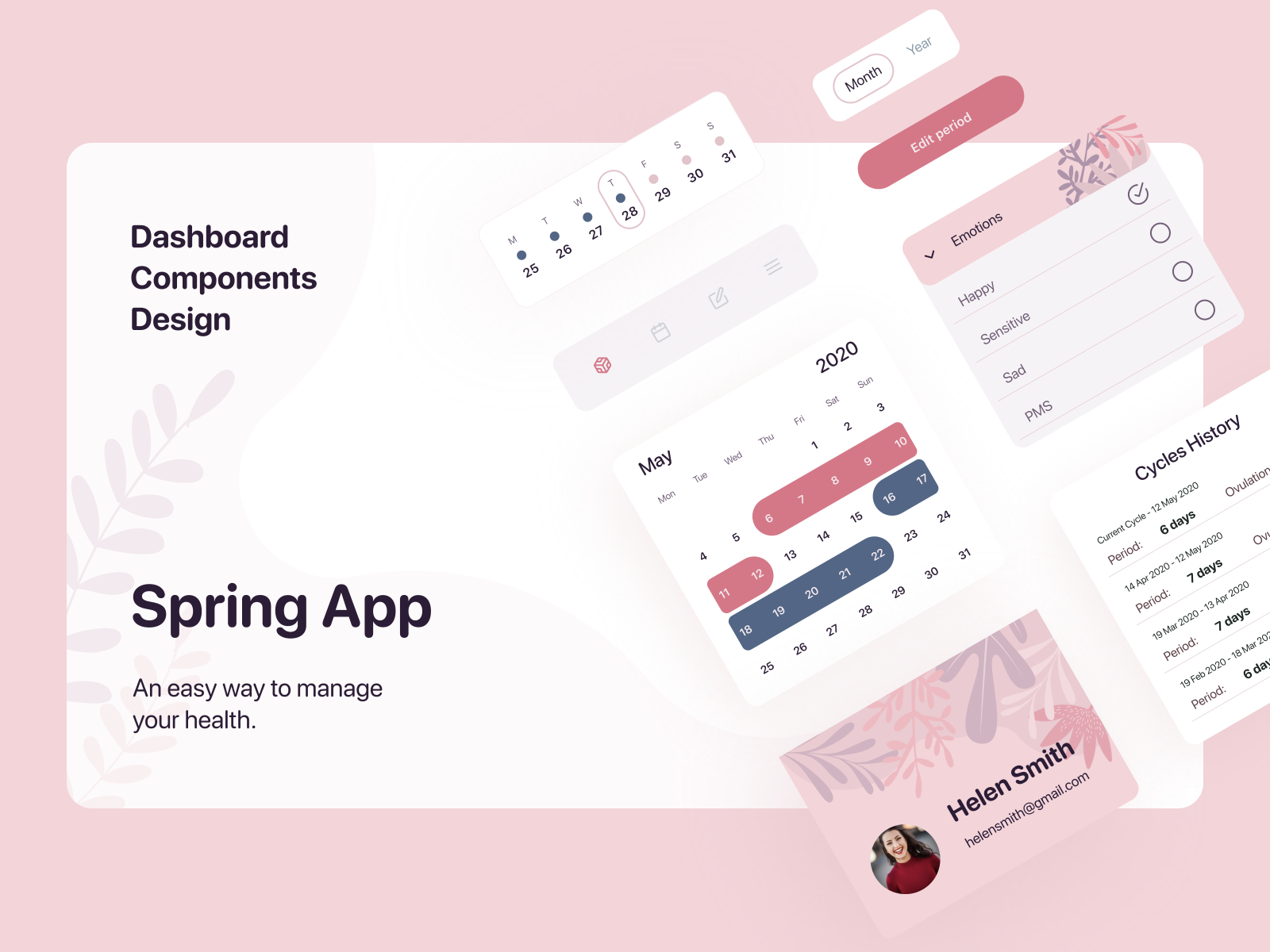 Spring App | Dashboard Interface Elements