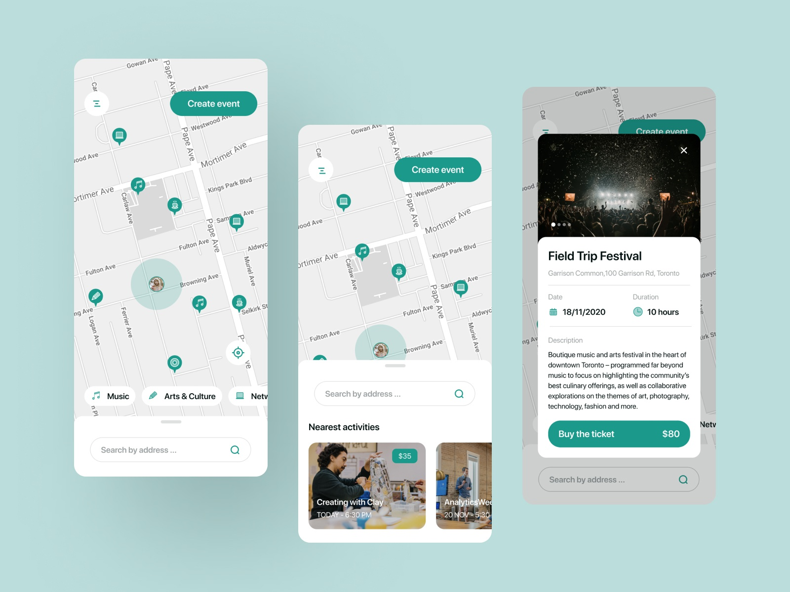 Eventy - local events | Mobile App