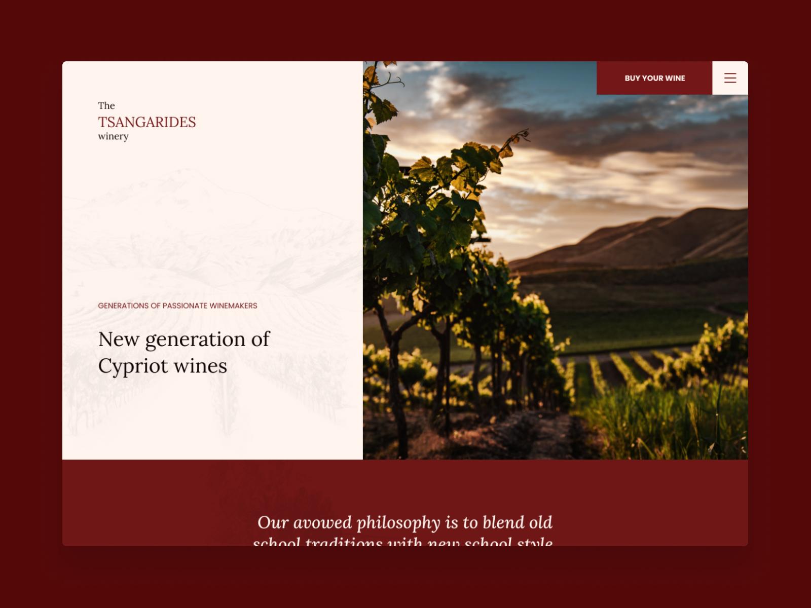 Tsangarides Winery | Landing Page