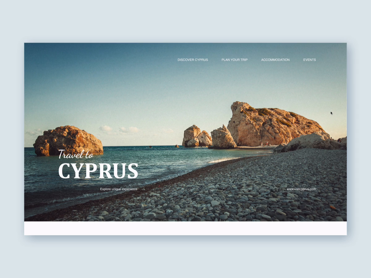 Welcome to Cyrpus | Landing page
