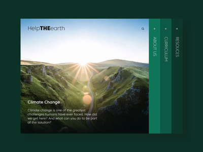 Educational Course   Landing page planet green environment climate change climate curriculum course education landing page website web minimal design interface ux ui
