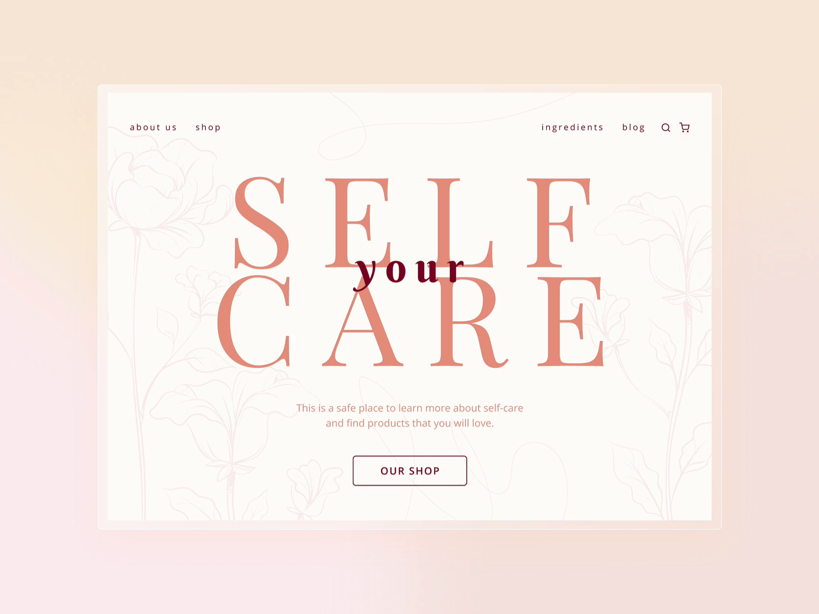 Your Self Care | Landing page