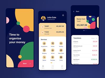 Your Savings App   Mobile Application cards services banking bank save transfer saving finance app money finance app minimal design interface ux ui