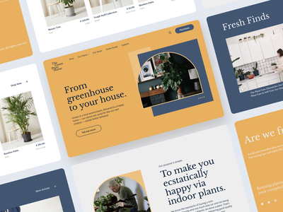 The Green Plant Home   Landing Page products plant ecommerce gardening home plants greenhouse garden plants branding landing page website web minimal design interface ux ui