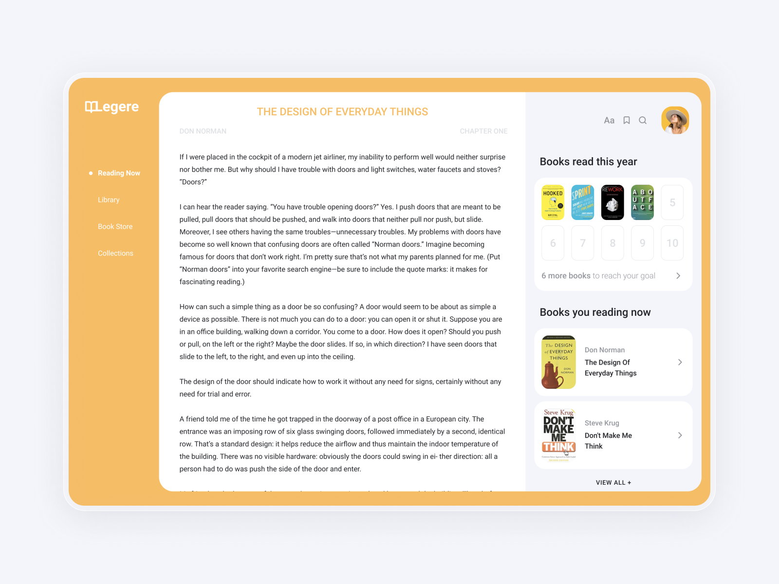 Legere Books | Dashboard