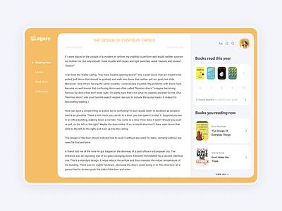 Legere Books   Dashboard dashboard design reading app dashboard ui reading books book dashboard website web minimal design interface ux ui