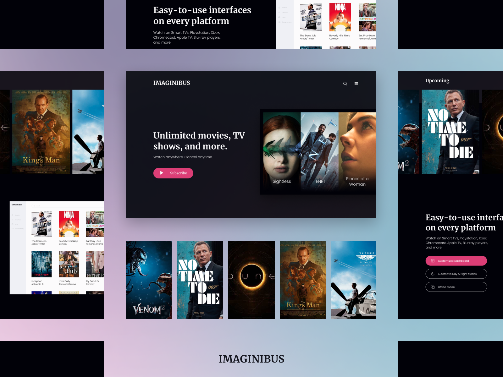 Imaginibus. Streaming Service | Landing page