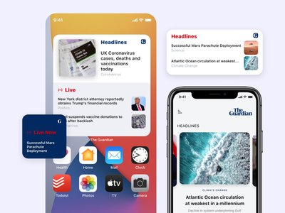 The Guardian News | Apple Widgets ios widgets ios14 apple widgets news news feed ios widgets news app app website web minimal design interface ux ui