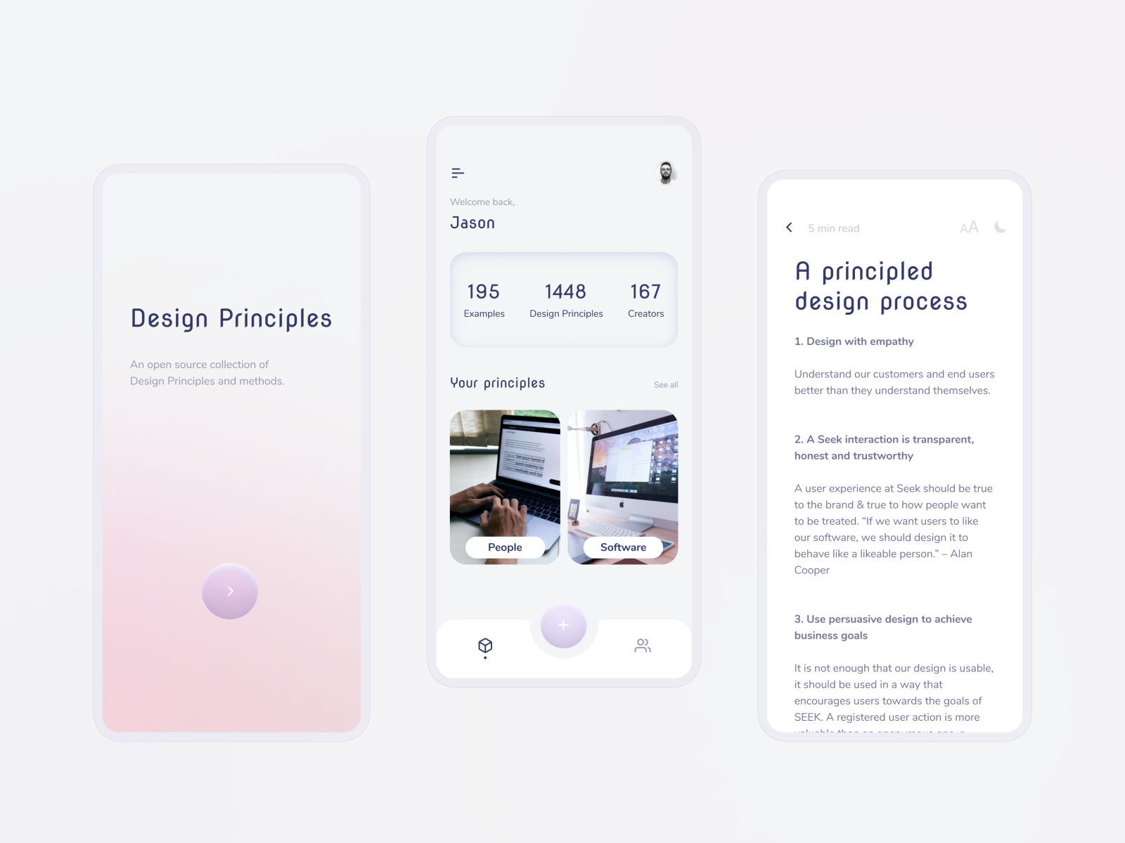 Design Principles App | Mobile Application