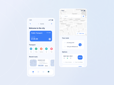 Public Transport App | Mobile Application ios travel app metro subway car tram taxi transition public transport trip route transport app minimal design interface ux ui