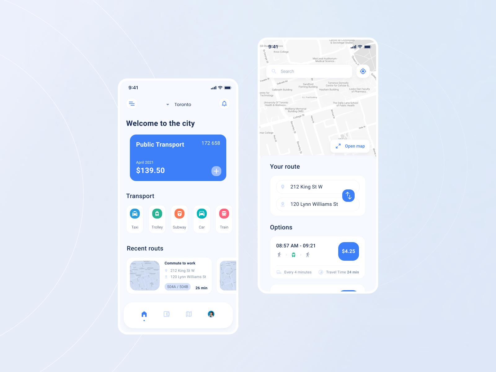 Public Transport App | Mobile Application