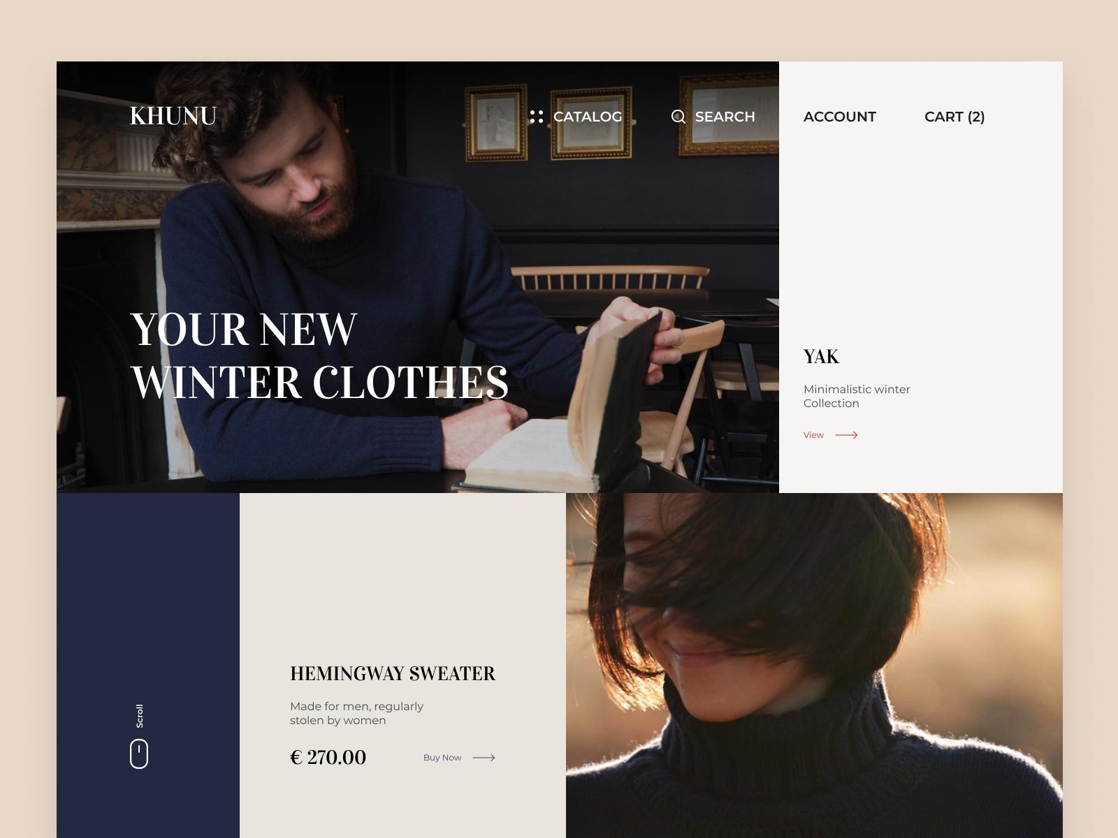 Khunu. Wool Clothes | Landing page