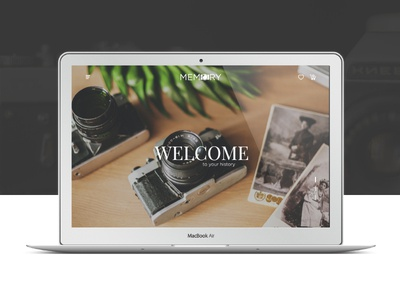 Memory | E-commers Landing page web ux ui promo page one landing interface design app photography e-commers