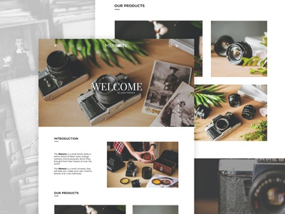 The Memory | Landing Page web ux ui portfolio page one landing interface design home page e-commers landing page
