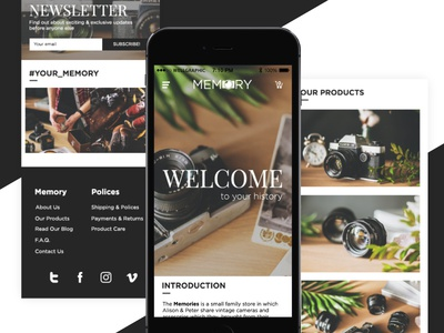 Mobile Landing Page | The Memory minimal landing web ux ui e-commers photography responsive mobile mobile landing page