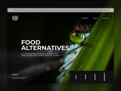 Landing Page | Food Alternatives alternative ants food portfolio landing page interface website minimal landing page design web ux ui