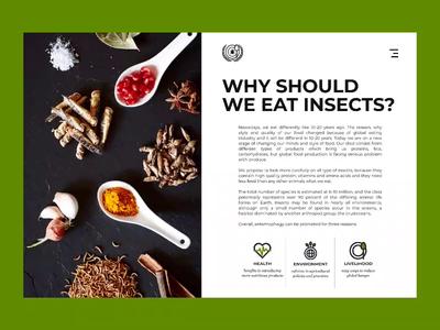 Food Alternative | Page Animation green website web minimalism minimal single page animation ux ui interface food design ants