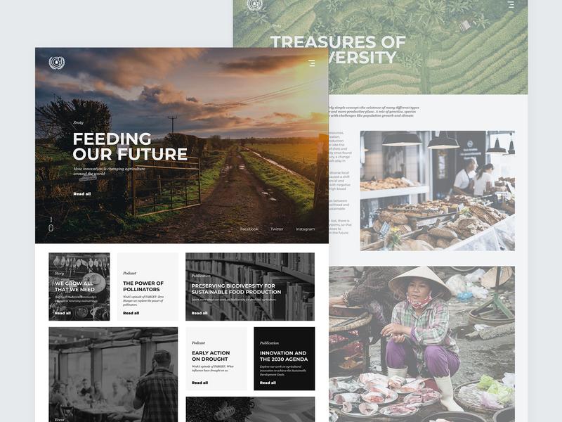 Article Page |  Food Alternatives grid article page blog page alternative ants food page interface website minimal design web ux ui