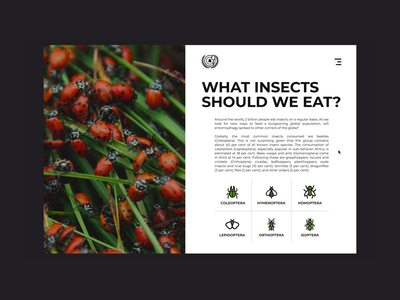 Transition between pages | Food Alternatives landing page animation alternative ux ui design ants food interface website minimal