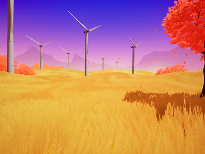Wheat field games game design game art ue4 illustration environment animation 3d
