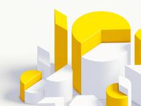 Shapes blender blender 3d ux branding design ui illustration environment animation 3d