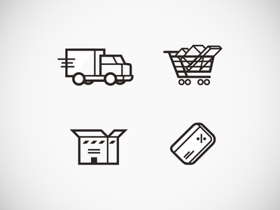 pictogramms icons pictogramm shipping delivery basket discount