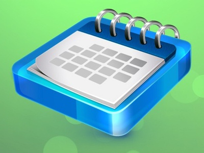 Jewel Calendar calendar icon blue jewel