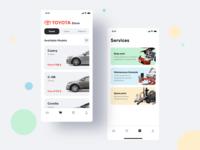 Concept Mobile App for dealer center Toyota