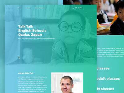 Talk Talk English School Homepage Screenshot